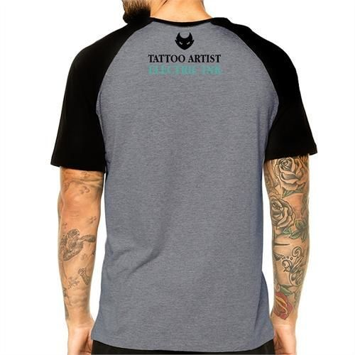 Camiseta Electric Ink Raglan - Masculina